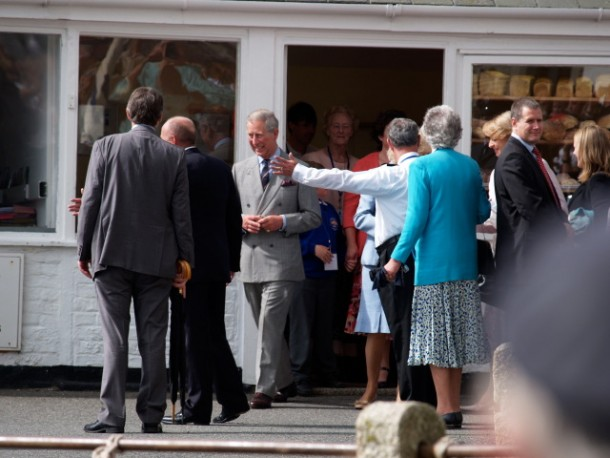 Charles and Camilla in Bakery